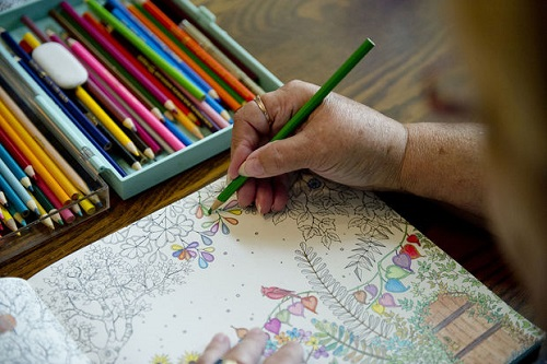 Coloring Paper With Pencils